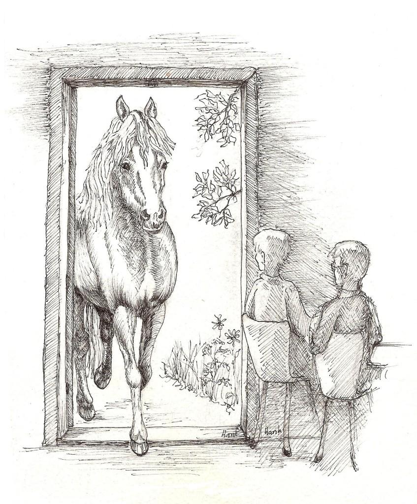 Hank Brouwer-van der Berg, Het paard in de eetzaal