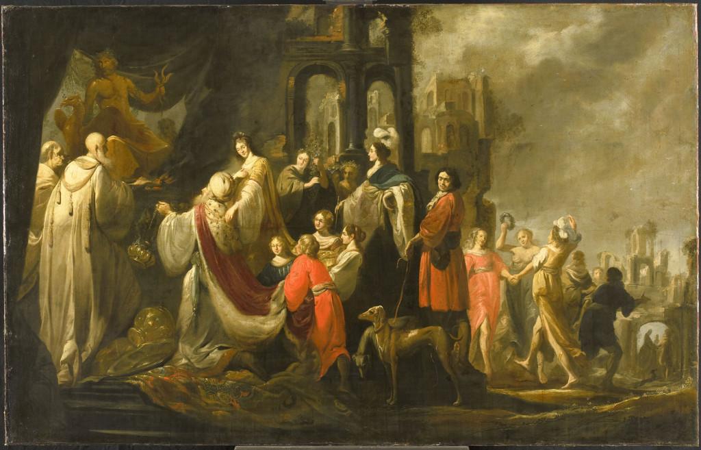 Jacob Hogers, De afgoderij van koning Salomo (1655)